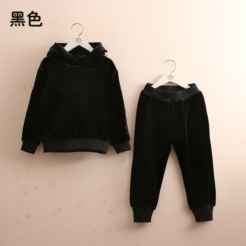 baby letter suit 2019 autumn and winter clothes new girls children's clothing children's thick coat trousers tz-4626