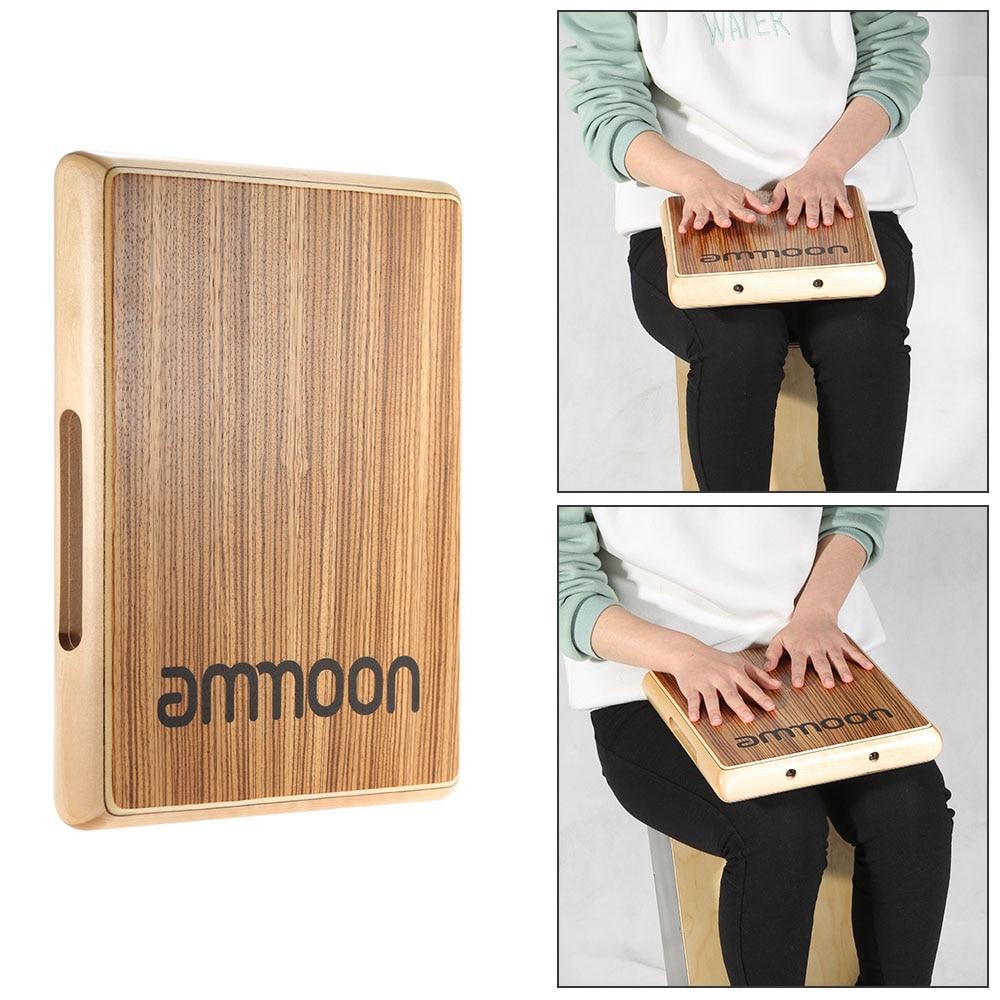 ammoon compact travel cajon flat hand drum 31.5 * 24.5 * 4.5cm percussion instrument accessories