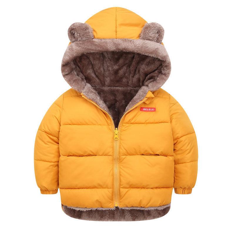 children's down padded jacket with velvet thickening anti-season children's padded jacket for boys and girls