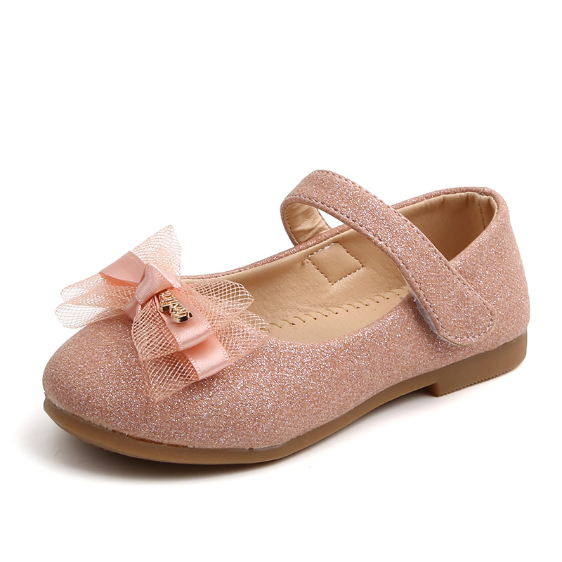 spring and autumn new small single shoes children lace bow princess shoes girls shiny small leather shoes