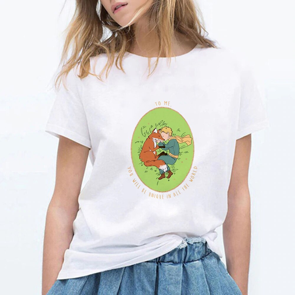 cartoon t-shirt women's tshirt summer women's round neck short sleeve t-shirt japanese anime
