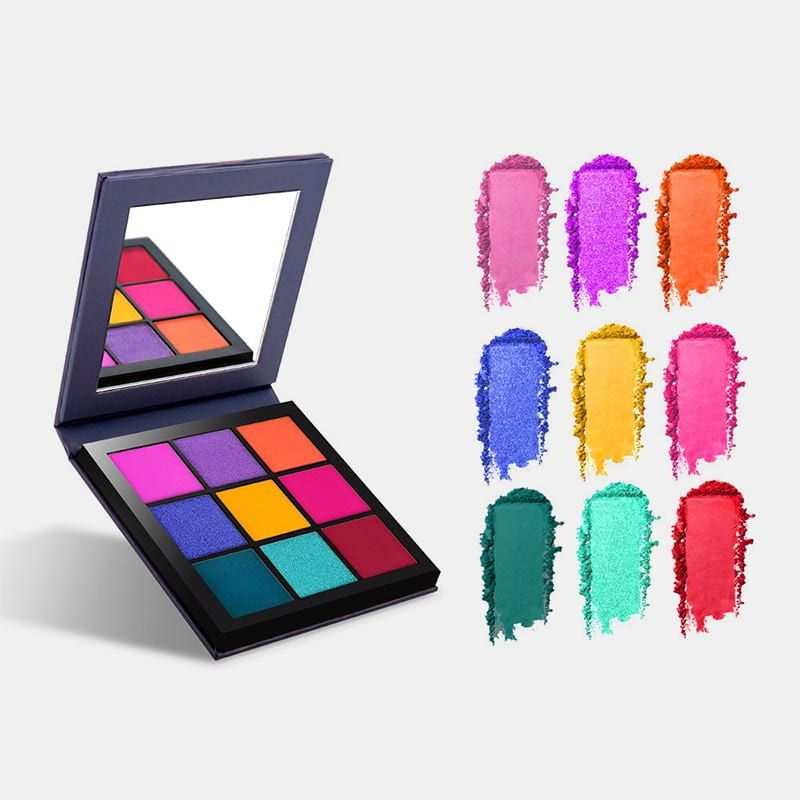 New Portable Mixed Color Waterproof Double-layer Cosmetics