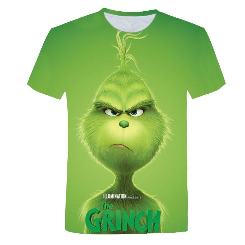 2021 new cool fashion men's and women's t-shirt green fur monster printing 3d t-shirt summer short-sleeved t-shirt male t-shirt xs-6xl