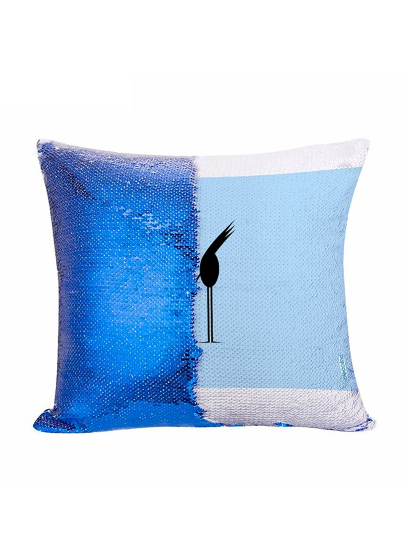 blackbird design flip sequin decorative pillow multicolour 45x45 centimeter