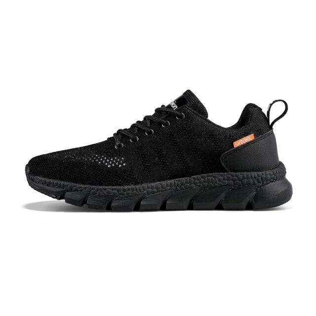 men's shoes men's casual sports shoes fashion breathable tennis shoes black non-slip lightweight fitness jogging shoes