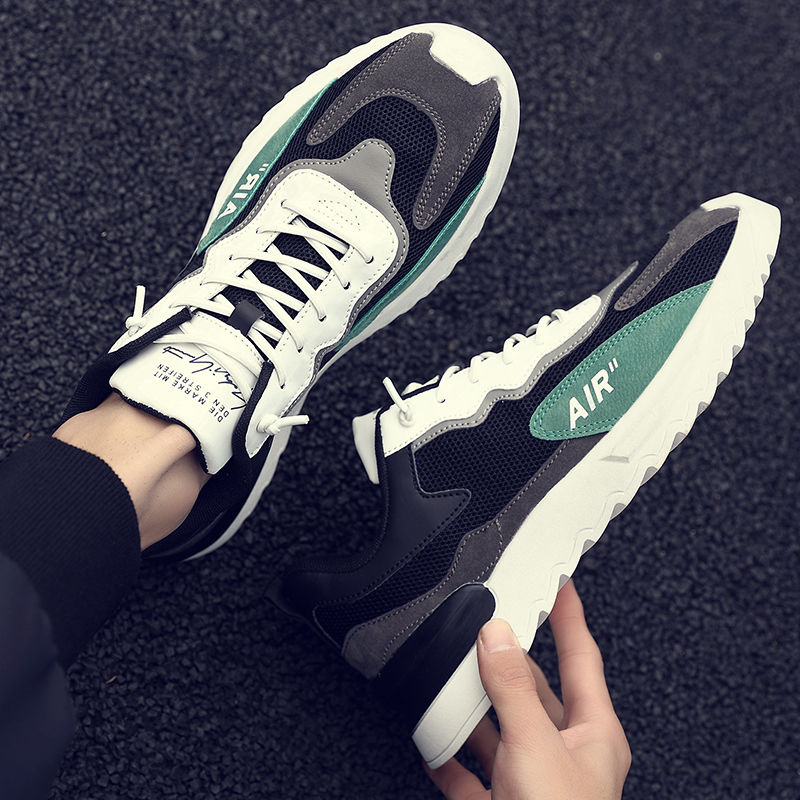 men's shoes 2021 new korean version of the trend of wild running old shoes breathable sports casual mesh shoes men's summer