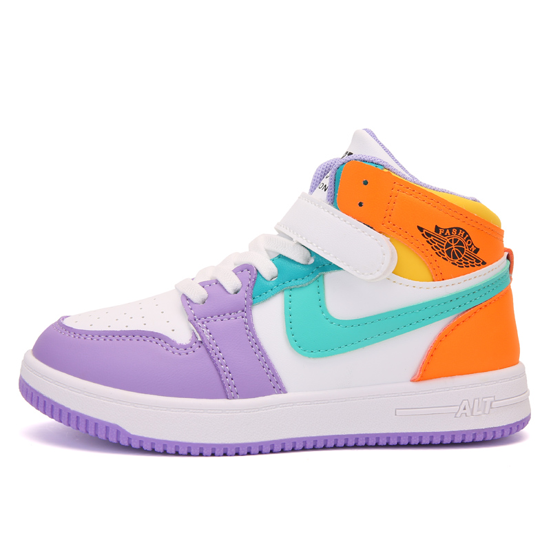 nike style aj1 kids shoes boys and girl sports shoes basketball shoes running shoes board shoes 7-14 years old children's shoes