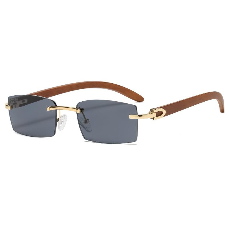 new fashion sunglasses men's ultra-clear rimless sunglasses ocean piece diamond trimming trend