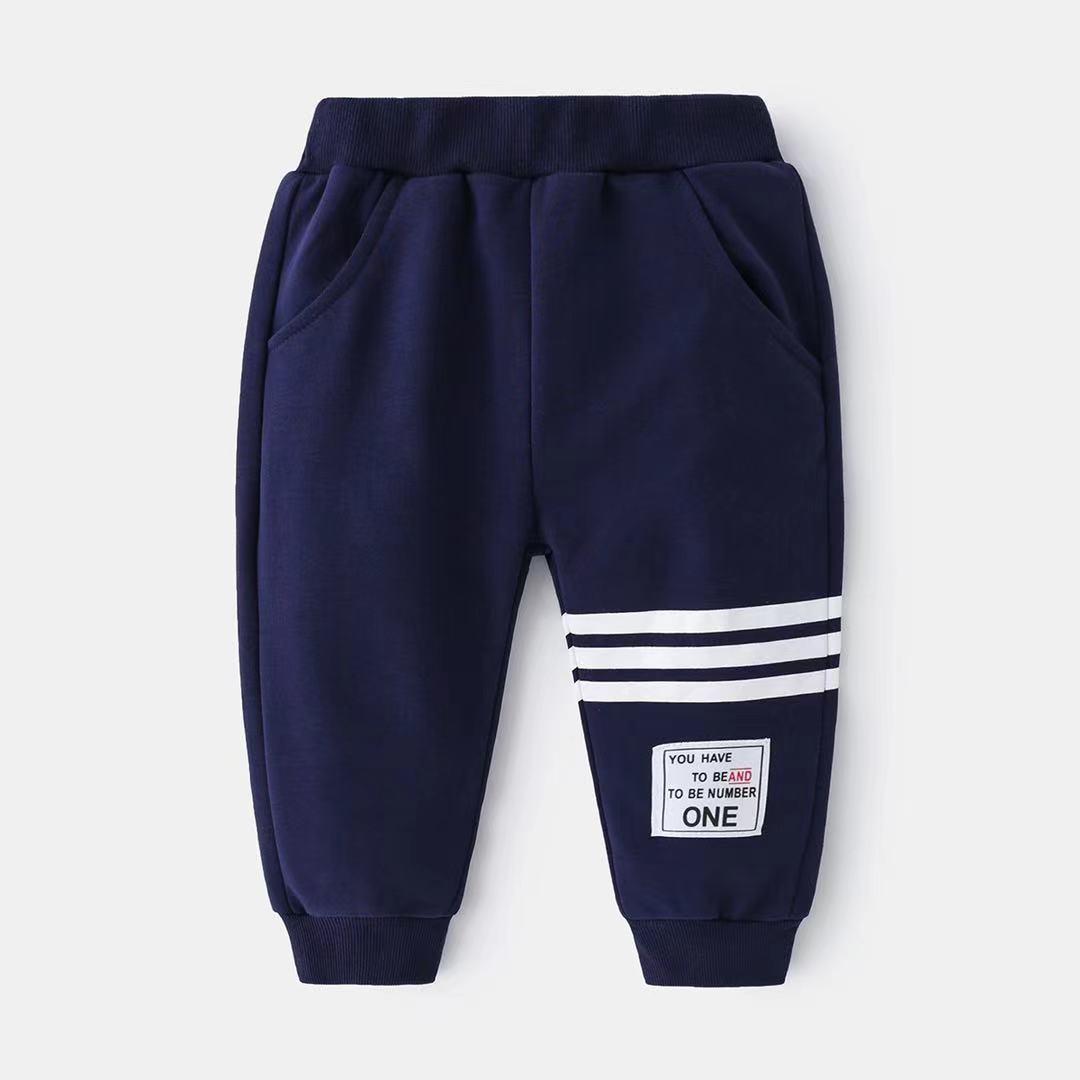 2021 hot-selling hot-selling hot-selling autumn children's trousers fashion trend simple and comfortable all-match foreign style knitting casual spor