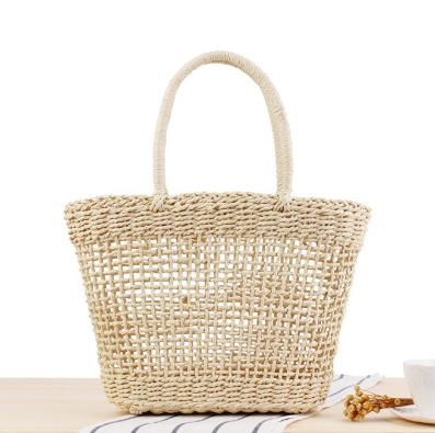 a generation of ins portable new hollow woven bag holiday outing vegetable basket tide personalized straw bag