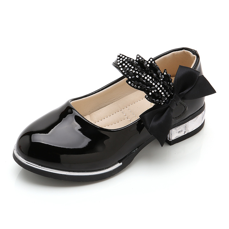 2021 spring and autumn new children's shoes leather shoes children's princess student performance single shoes