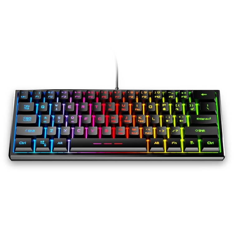 fv-61 mechanical hand-sensitive keyboard 61 key character rgb shining wired computer desktop laptop electric competition
