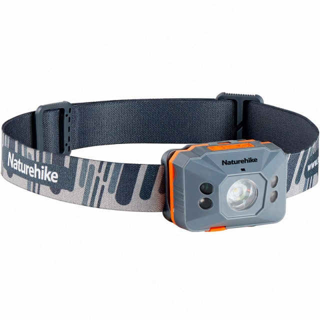 naturehike outdoor led koplamp portable headlamp induction switch ultralight waterproof camping running hiking uses nh17g025-d
