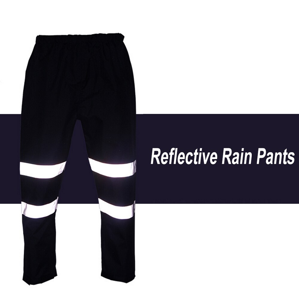 work rain trousers reflective rain pants waterproof windproof outdoor traffic hiking riding safety warn working clothes