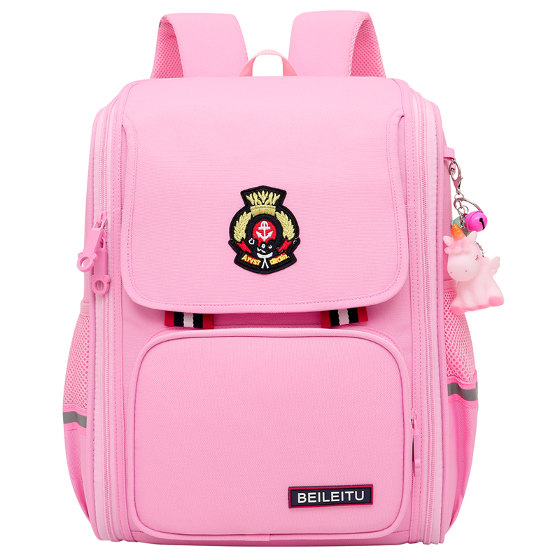 british style school bag new male and female elementary school students spine protection shoulder bag ultra-light backpack