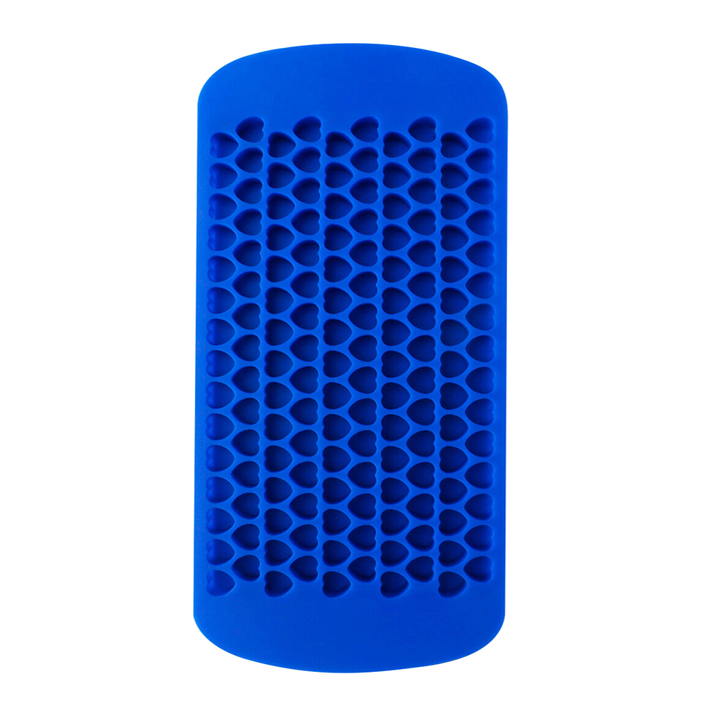 blue 160 grids silicone square/heart diy pudding jelly mould